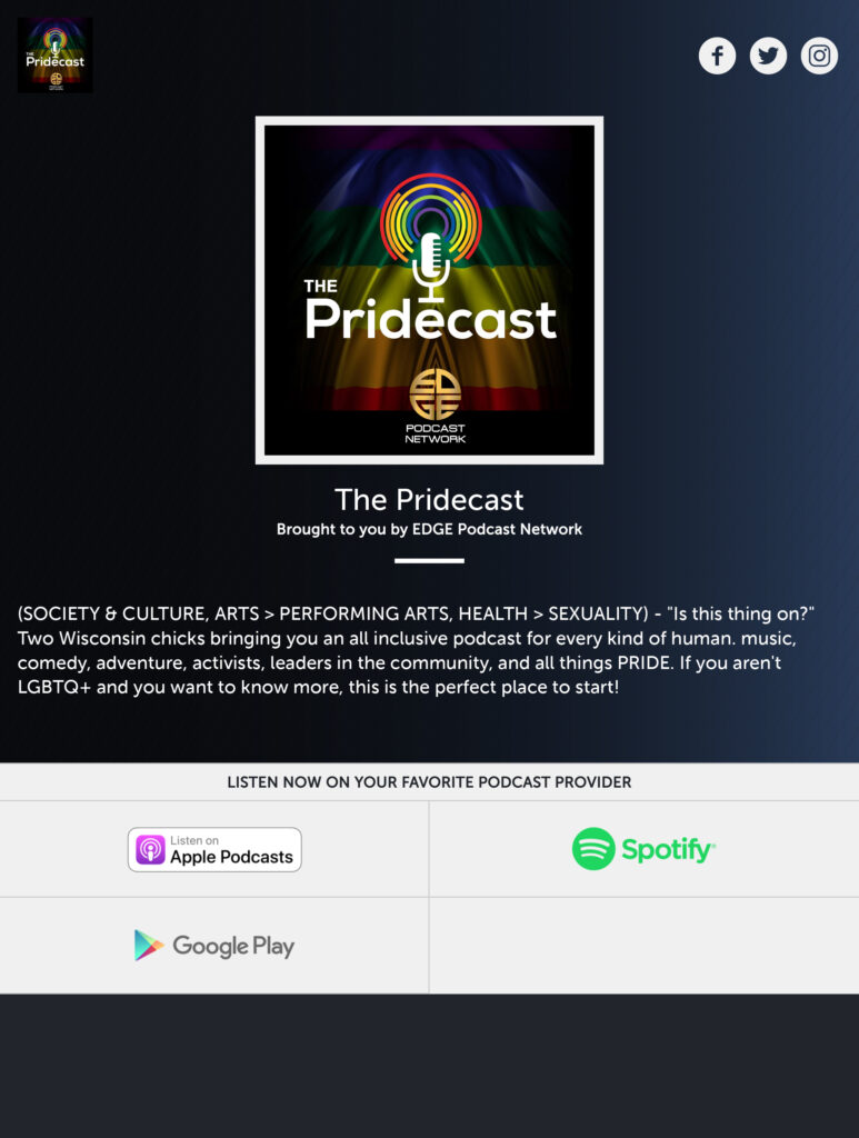 The Pridecast Smart URL